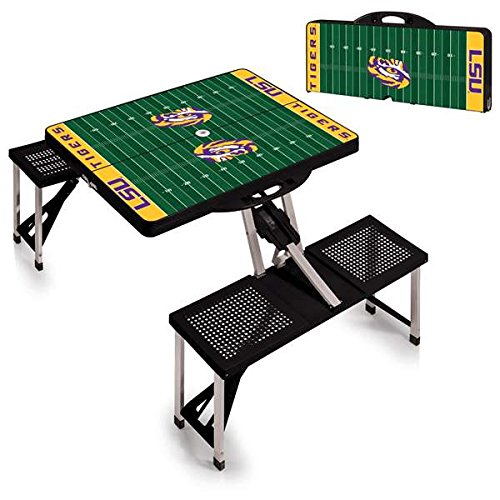 Lsu Ncaa Tigers Sports Table - NCAA LSU Tigers Digital Print Picnic Table Sport, Black, One Size