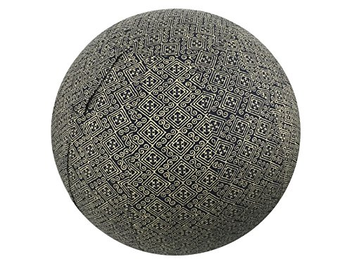 65cm Exercise Ball Cover, Yoga Ball Cover, Balance Ball Cover, Fitness Ball Cover, 100% Cotton - Black Indigenous by Global Groove Life