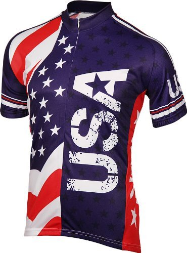 BDI Men's USA Cycling Jersey Red/White/Blue XX-Large [並行輸入品]   B07K1JLTC2