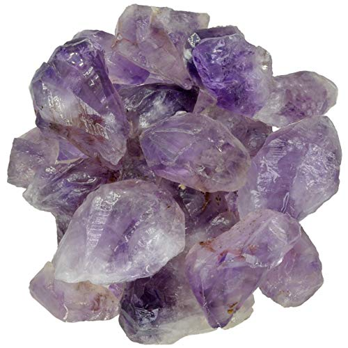 Digging Dolls: 1 lb of Amethyst Broken Point Stones from Brazil - Raw & Natural Rough Rocks Semi Points!