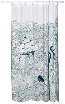 Danica Studio Unisex Bicicletta Shower Curtain Multi Shower Curtain