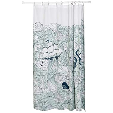 Danica Studio Cotton Shower Curtain, Odyssey Print