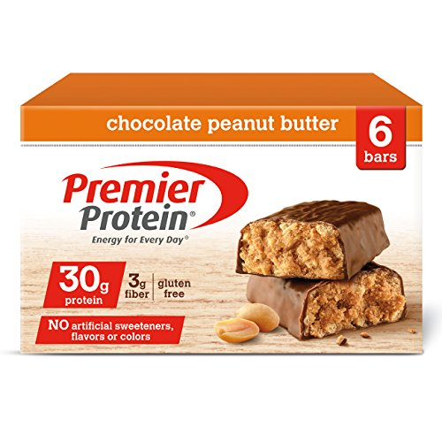 Premier Protein 30g Protein Bar, Chocolate Peanut Butter, 2.53oz Bar, (6 -