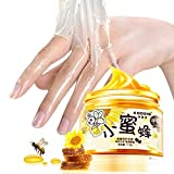Zehui Hand Wax Mask Milk & Honey Peel Off Exfoliator Moisturizing Whitening Nourish