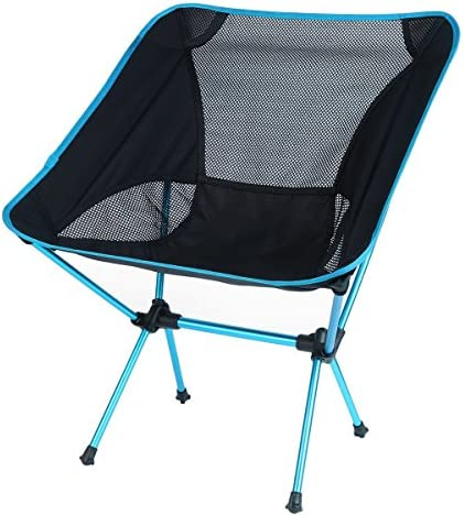 OUTAD Mini Portable Folding Chair for Outdoor Camping Fishing Picnic BBQ Sky Blue