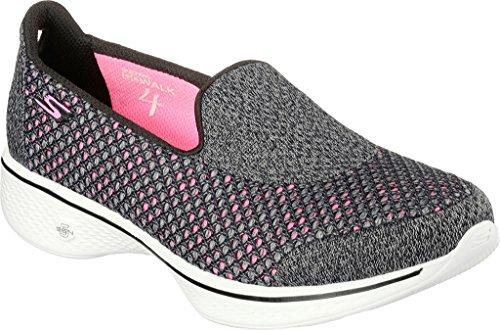 Skechers Gaan Lopen 4 - Ontsteken, Damen Sneakers Zwart / Rosa
