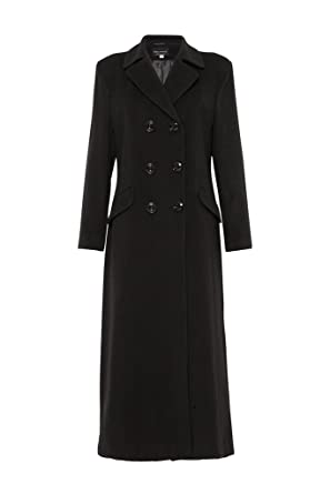 04e67dee0 Amazon.com: De la Crème Women`s Double Breated Fitted Long Coat ...