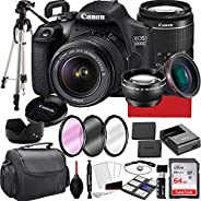 Canon EOS 2000D (Rebel T7) DSLR Camera with 18-55mm f/3.5-5.6 Zoom Lens, 64GB Memory,Case, Tripod and More (28