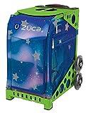 ZUCA Aurora Sport Insert Bag and Green Frame with Flashing Wheels