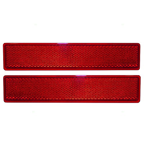 Pair Set Rear Bumper Reflectors Signal Marker Lights Lens Replacement for Honda Pilot 33555-S9V-A11 33505-S9V-A11 ()