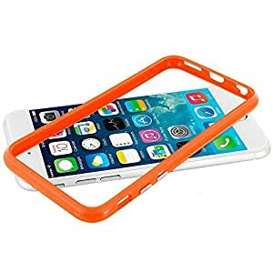 Accessory Planet(TM) Orange TPU Bumper Frame with Metal Buttons Case Cover for Apple iPhone 6 (4.7) by runtopwell