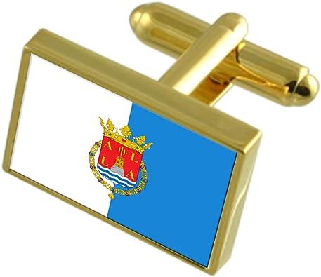 Select Gifts La Ciudad de Alicante España Bandera de Oro Gemelos: Amazon.es: Joyería