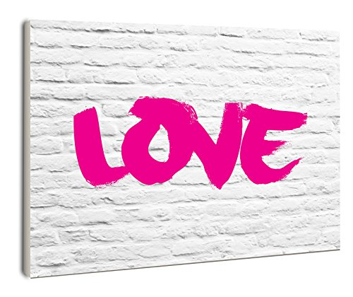 The Stupell Home Decor Collection lulusimonSTUDIO Love on White Bricks Rectangle Wall Plaque