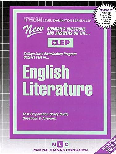 ENGLISH LITERATURE (College Level Examination Series