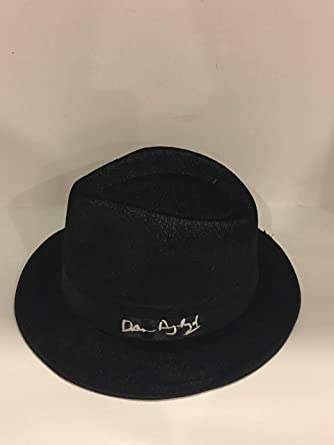 Image Unavailable. Image not available for. Color  DAN AYKROYD SIGNED BLUES  BROTHERS BLACK FEDORA HAT ... b6231aa82b9
