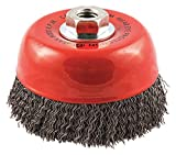 5'' Crimped Wire Cup Brush, Arbor Hole Mounting, 0.020'' Wire Dia. 1-1/4'' Bristle Trim Length - pack of 5