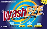 WashEZE Travel Size 3-in-1 Laundry Detergent Sheets, Scented, Case of 24-2 packs Perfect for Travel!