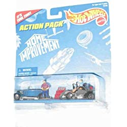 Hot Wheels - Action Pack - Home Improvement (TV Show starring Tim Allen), including vehicle replica 2-Pack (car & mower), 2 micro-figures and a Toolbox replica.