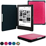 Kobo Aura H2O Case - ACdream (TM) Kobo Aura H2O Smart Shell Case - Slim PU Leather Cover Case for Kobo Aura H2O with Auto Wake Sleep Function - Hot Pink