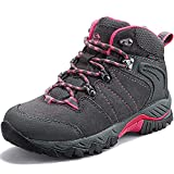 Clorts Women's Classic Hiking Boots Waterproof Suede Leather Lightweight Hiking Shoes Grey 9
