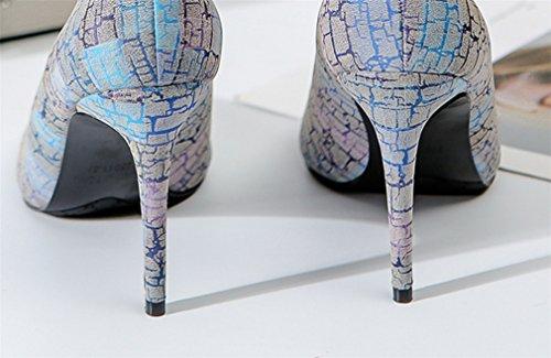 Peep Pompes LUCKY Escarpins CLOVER Satin Talons Soirée Sandales Blue A De Hauts Brun Pompes EU37 Gris 40 Toe EU37 Satin Nuptiale Femmes n8r8Otqwxd