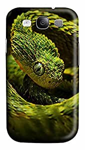 Samsung S3 Case Green Snake 3D Custom Samsung S3 Case Cover by ruishername