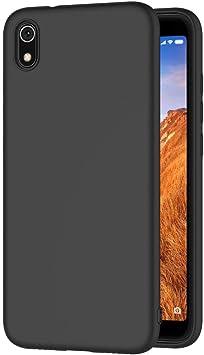 AICEK Funda Compatible Xiaomi Redmi 7A, Negro Silicona Fundas ...