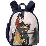Cute Batgirl Functional Design For Kids School Backpack Children Bookbag Perfect For Transporting For Traveling In 4 Season Navy