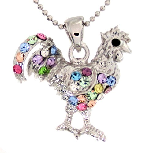 Rooster Feet Costume (New Chicken Rooster Pendant Charm Necklace Multicolor)