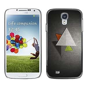Be Good Phone Accessory // Dura Cáscara cubierta Protectora Caso Carcasa Funda de Protección para Samsung Galaxy S4 I9500 // Minimalist Triangles