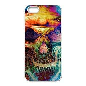 Colorful unique skull Phone Case for iPhone 5S(TPU)