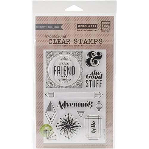 Hero Arts Basic Grey Aurora Clear Stamps By The Good Stuff