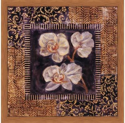 Poster Palooza Framed Javanese Orchid II- 12x12 Inches - Art Print (Honey Pecan Frame)