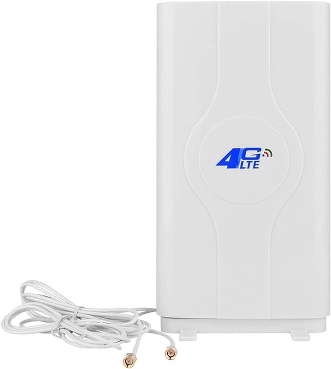 4G LTE Antenna SMA Connector, NETVIP 4G Antenna 35dBi Dual Mimo Antena de Amplificador de Señal de Alta Ganancia Antenna Wifi Recepción De Banda Ancha ...