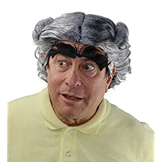Mayor of Whoville Grinch Who Stole Christmas Wig and Eyebrow Set Grey