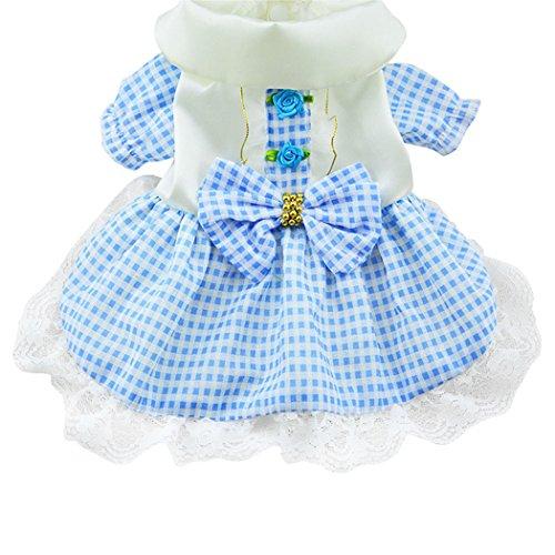 Prettysell Pretty Summer Sweet Puppy Dog Pet Dress Skirt Dogs Princess Dresses Pet Coat Apparel Costume
