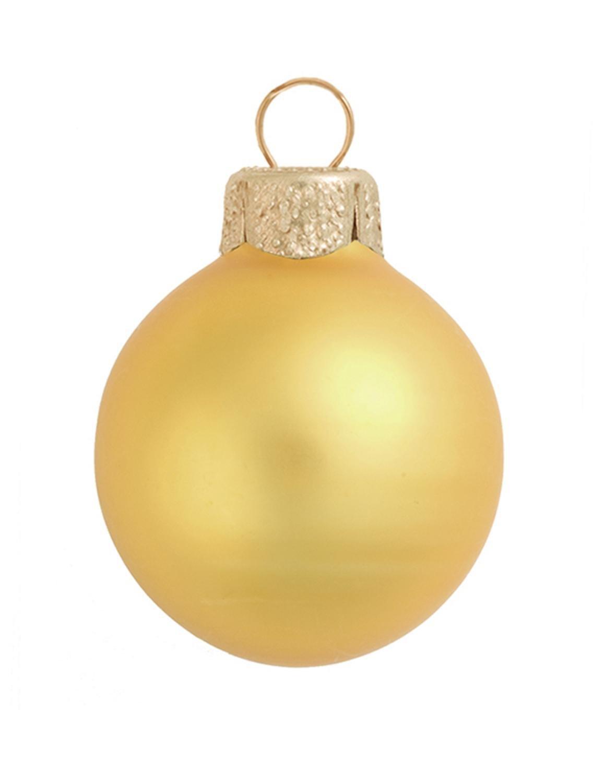40ct Matte Yellow Sun Glass Ball Christmas Ornaments 1.5'' (40mm)