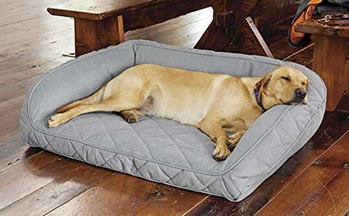 Orvis Memory Foam Bolster Dog Bed Medium Dogs Up To 18-27 Kg, Glacier,