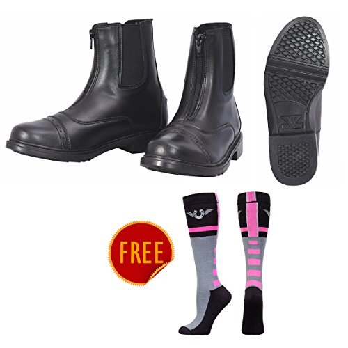 Black Boots Equestrian Boots Riding TuffRider Knee with Horse Hi Socks Impulsion Paddock Ladies FREE Womens Starter Zip Front wwTqZX