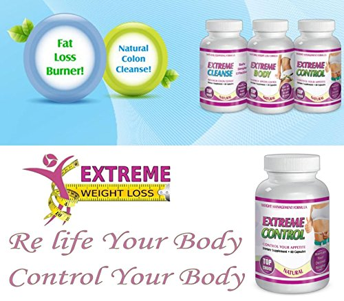 Extreme Cleanse Control Weight loss Diet System Kit 30 Day Supply All Natural by SliMaxUSA (Image #3)