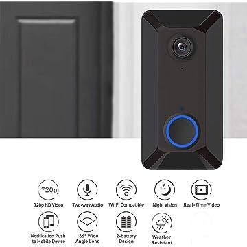 Kindsells V6 Wireless WiFi Smart Doorbell Remote Video Monitor Intercom Kits