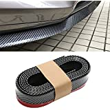 CICMOD 98'/2.5M Universal Front Bumper Spoiler Rubber Skirt Protector Lip for Cars Trucks SUV Black+Red