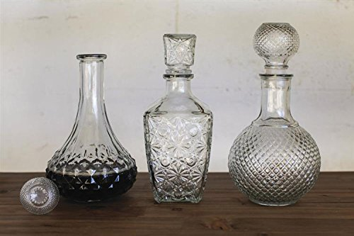 Clear Glass Decanter W/ Stopper Ornate Design Country Home Bar D by BCD (Image #1)