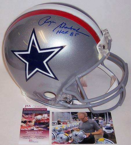 - Roger Staubach - Autographed Official Full Size Riddell Authentic Proline Football Helmet - 1976 Dallas Cowboys - JSA