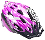 Mongoose Thrasher Lightweight Microshell Helmet Featuring Dial-Fit Adjustability, Youth, Pink/White