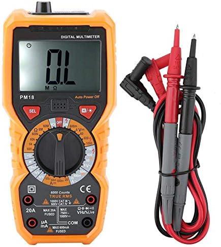 Tyannan デジタルマルチメータ、測距PM18電圧計マニュアルオート。測定する電圧テスター、電流、抵抗、トランジスタ、温度