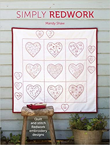 Simply Redwork Quilt And Stitch Redwork Embroidery Designs Amazon