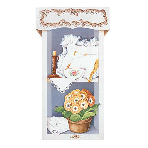 Wall Art White Wood Print Pantry Scene Set Of 2 36''H | Renovator's Supply by Renovator's Supply