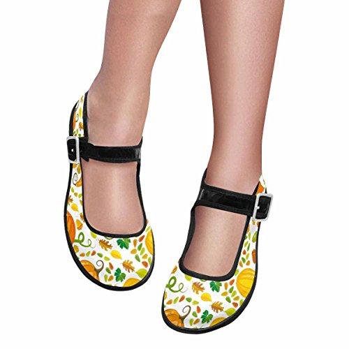 InterestPrint Womens Comfort Mary Jane Flats Casual Walking Shoes Multi 12 e75XKpsoYg