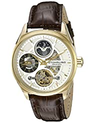 Stuhrling Original Men's 657.03 Delphi Analog Display Automatic Self Wind Brown Watch